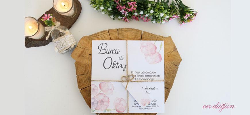 Zarfsız Düğün Davetiyesi