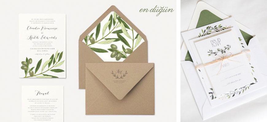 Yeşil Düğün Davetiyesi