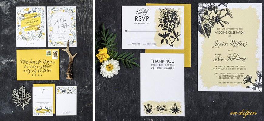 Sarı Düğün Davetiyesi