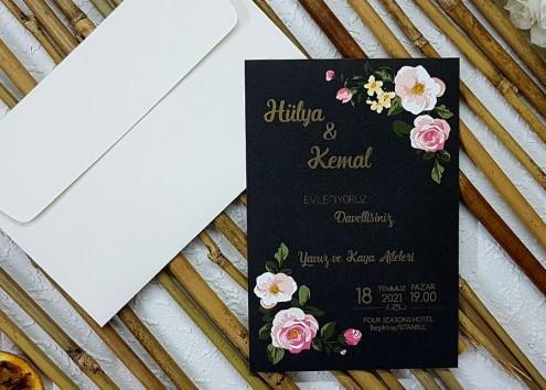 Vintage Rose Davetiye